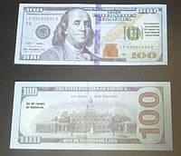 Сувенирные деньги 100 долларов нового образца. Пачка долларов 80 шт