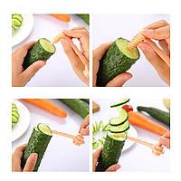Нож для нарезки овощей картофеля спиралью