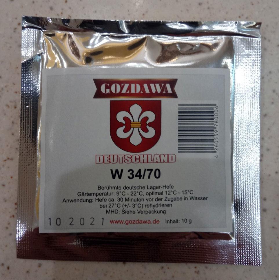 Пивные дрожжи Gozdawa W34/70