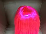 Парик  длинный ярко-розовый прямой 56 см, фото 5