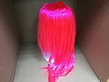 Парик  длинный ярко-розовый прямой 56 см, фото 3