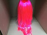 Парик  длинный ярко-розовый прямой 56 см, фото 4