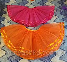 Юбка-пачка пышная юбочка на 2-8 лет Оранжевая