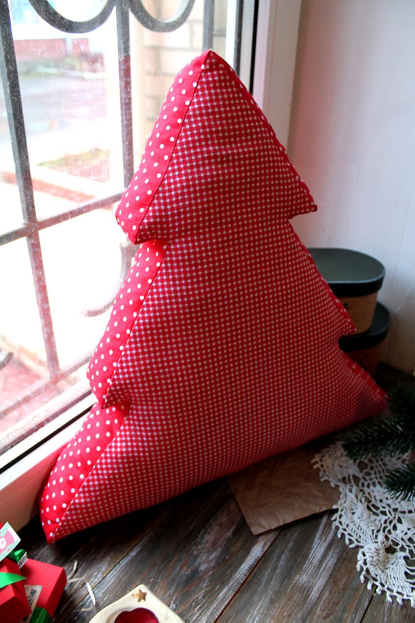 Подушка новогодняя Елочка с бортиком