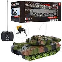 Игрушечный танк на радиоуправлении 13А, звук, свет, 2 цвета, фото 1