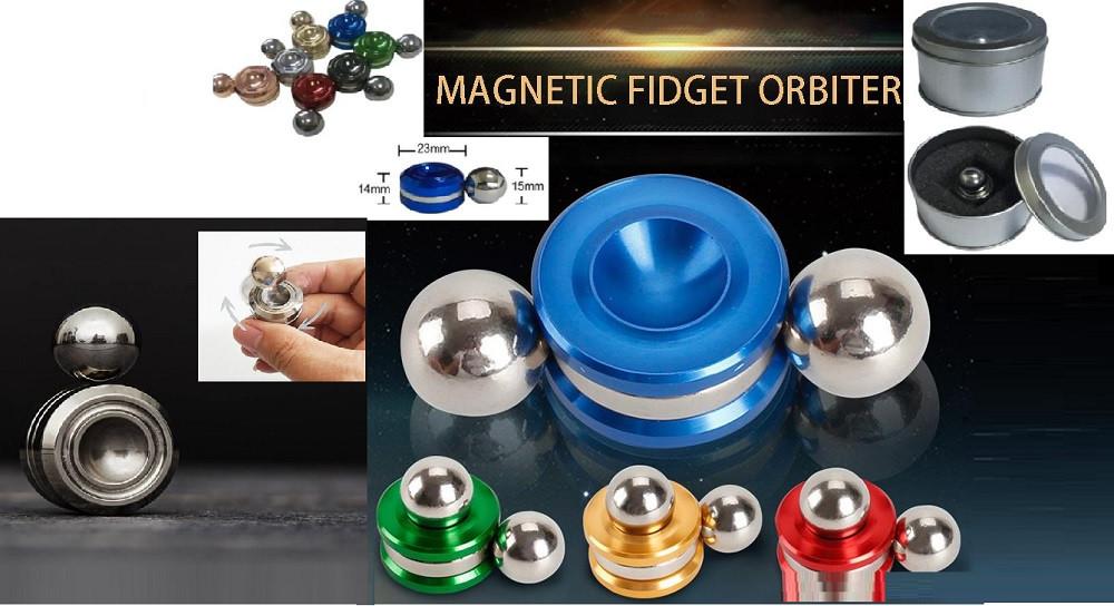 Магнитный шарик цвета микс, 1,4*2,3см в боксе /240-2/