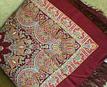 Волшебный танец 1581-7, павлопосадский платок шерстяной с шелковой бахромой, фото 4