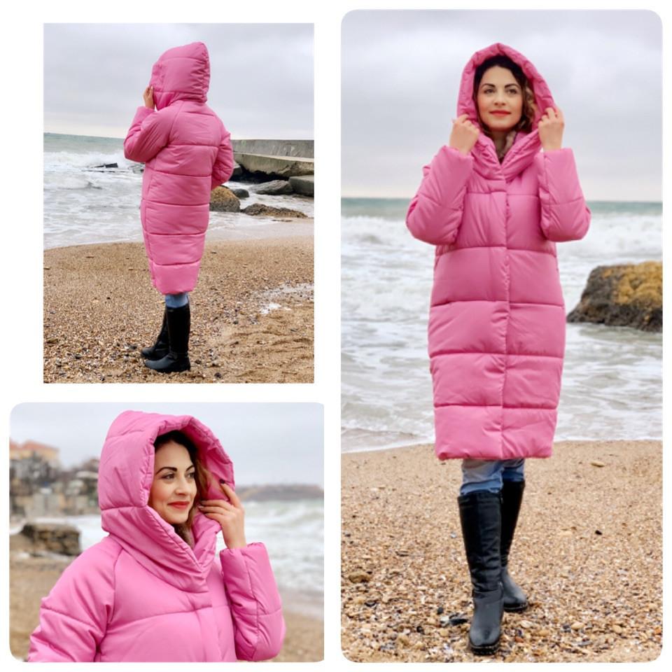НОВИНКА! Куртка Oversize зимова, артикул 530, колір ультра рожевий