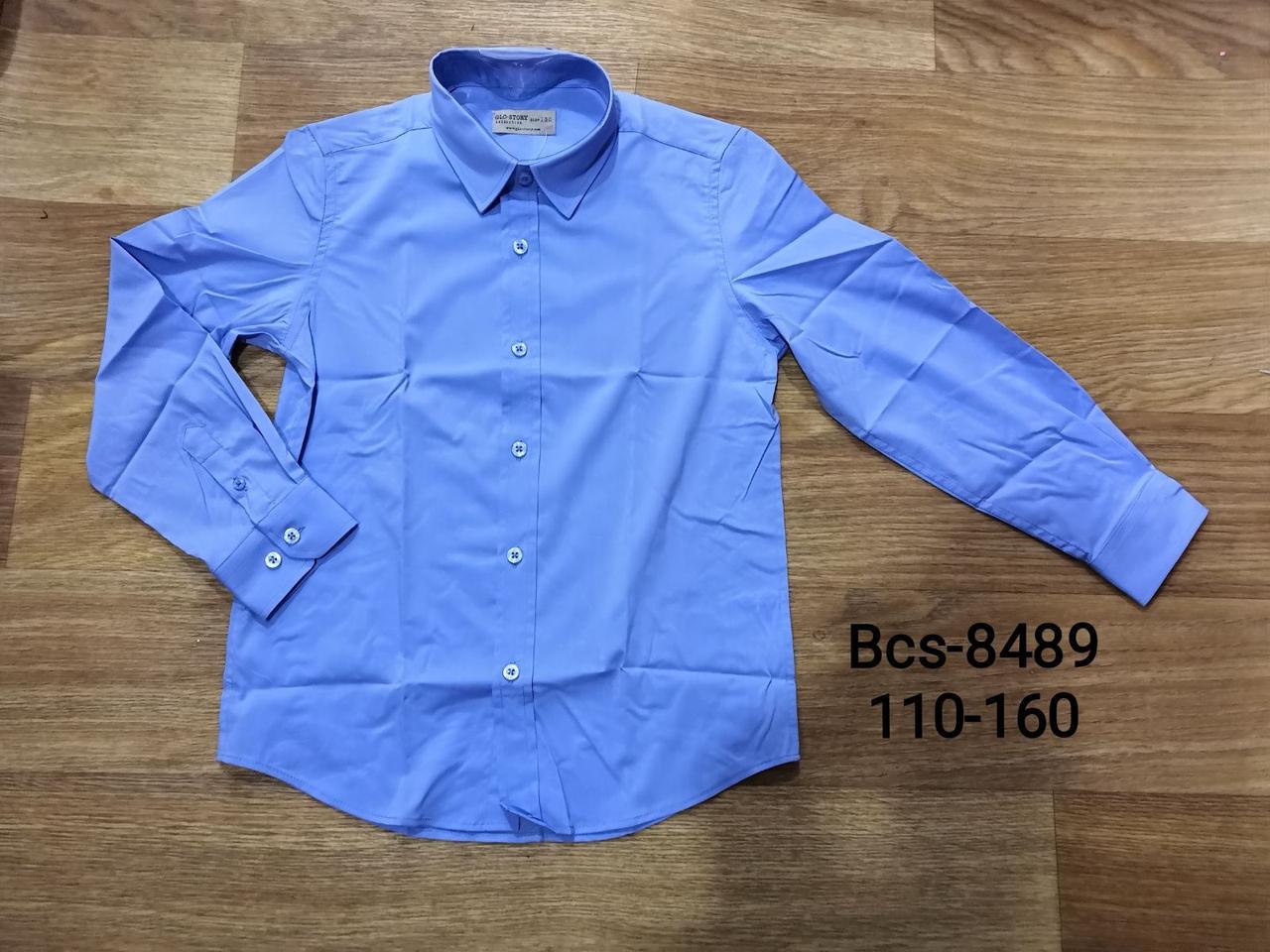 Рубашки для мальчиков оптом, размеры 110-160 Glo-story, арт. BCX-8489