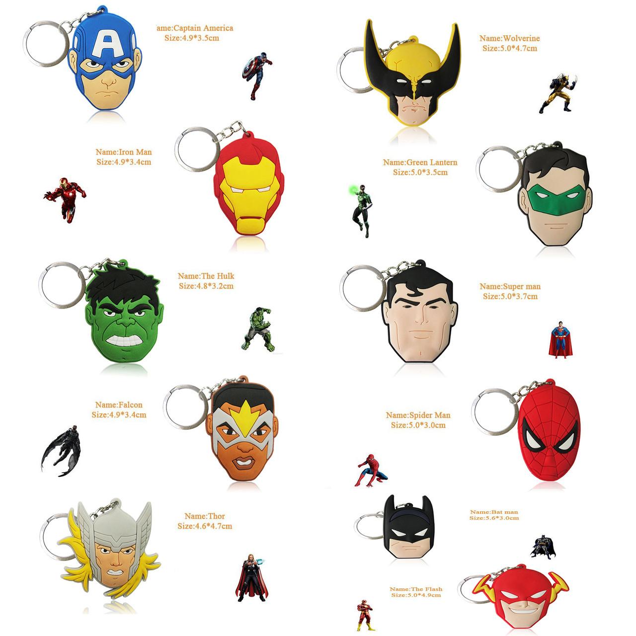 Брелоки за мотивами коміксів Marvel і DC