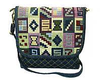 Женская джинсовая сумочка Тетрис