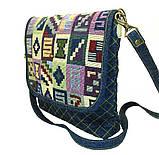 Женская джинсовая сумочка Тетрис, фото 2