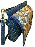 Женская джинсовая сумочка Тетрис, фото 5