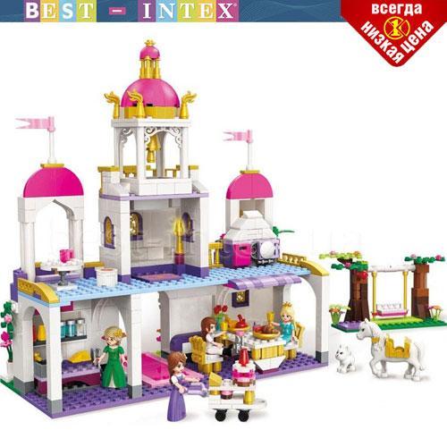 Детский конструктор BRICK 2610 Замок принцессы 587 деталей