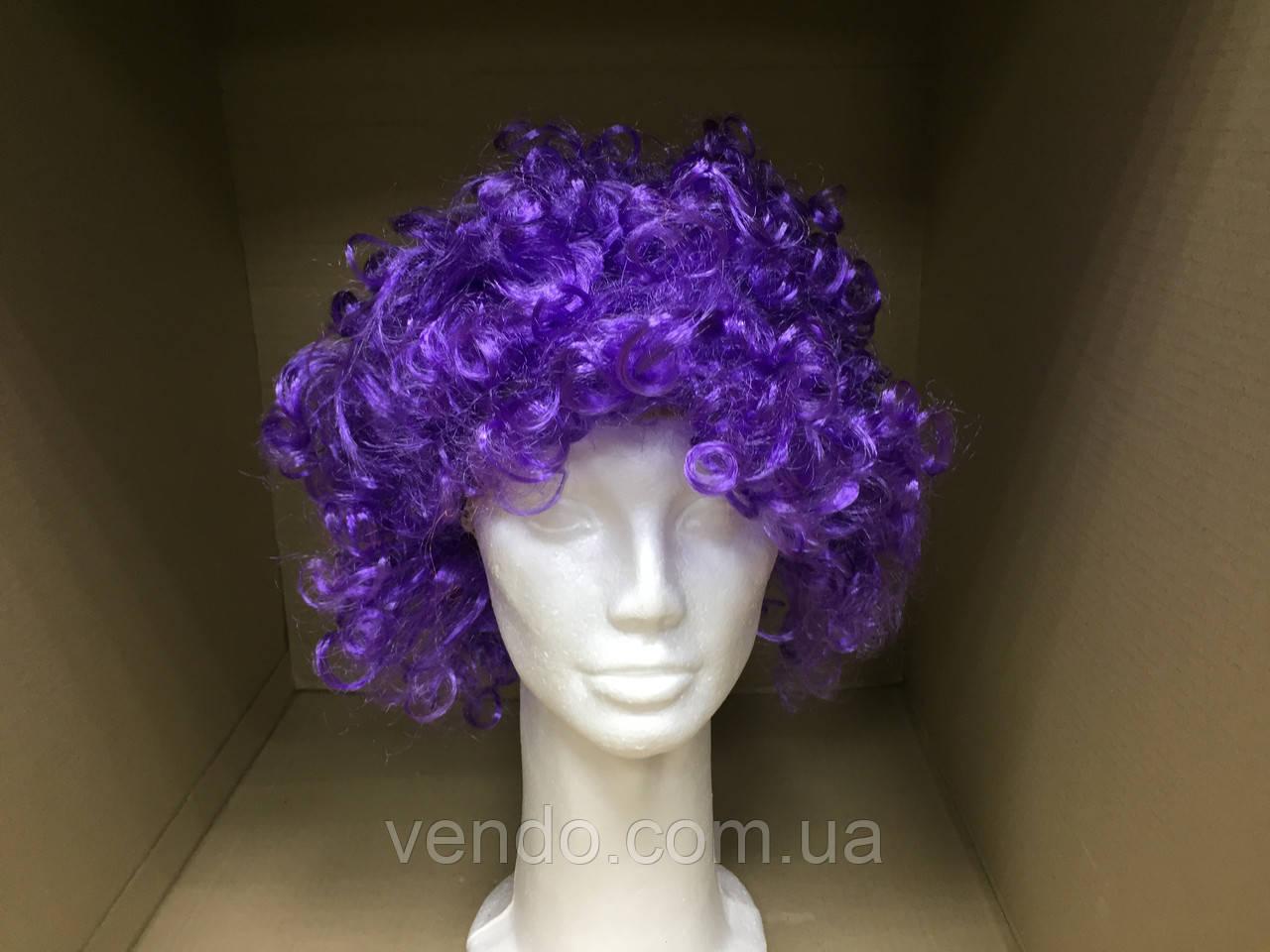 Парик клоуна фиолетовый