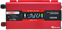 Преобразователь Ukc авто инвертор 12V-220V 1000W Lcd kc-1000D Usb Red (2812)