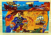 """Набор для рисования 68 предметов """"Пираты"""" в чемодане"""