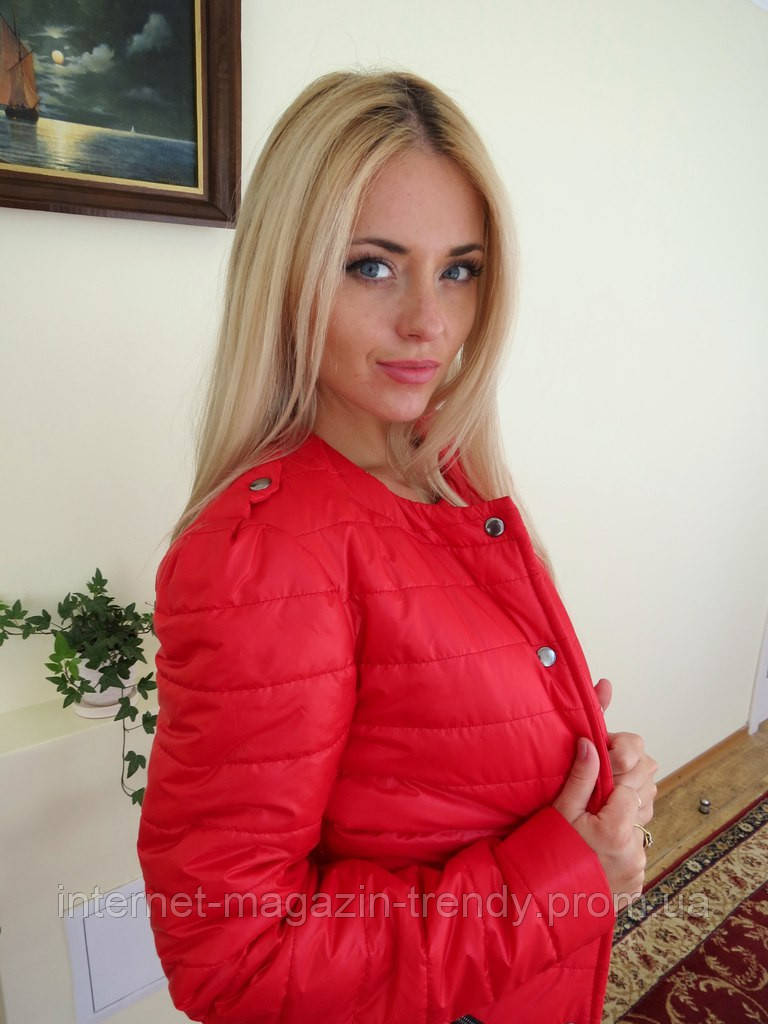 Весенне осенняя куртка с накладными карманами (3 цвета)