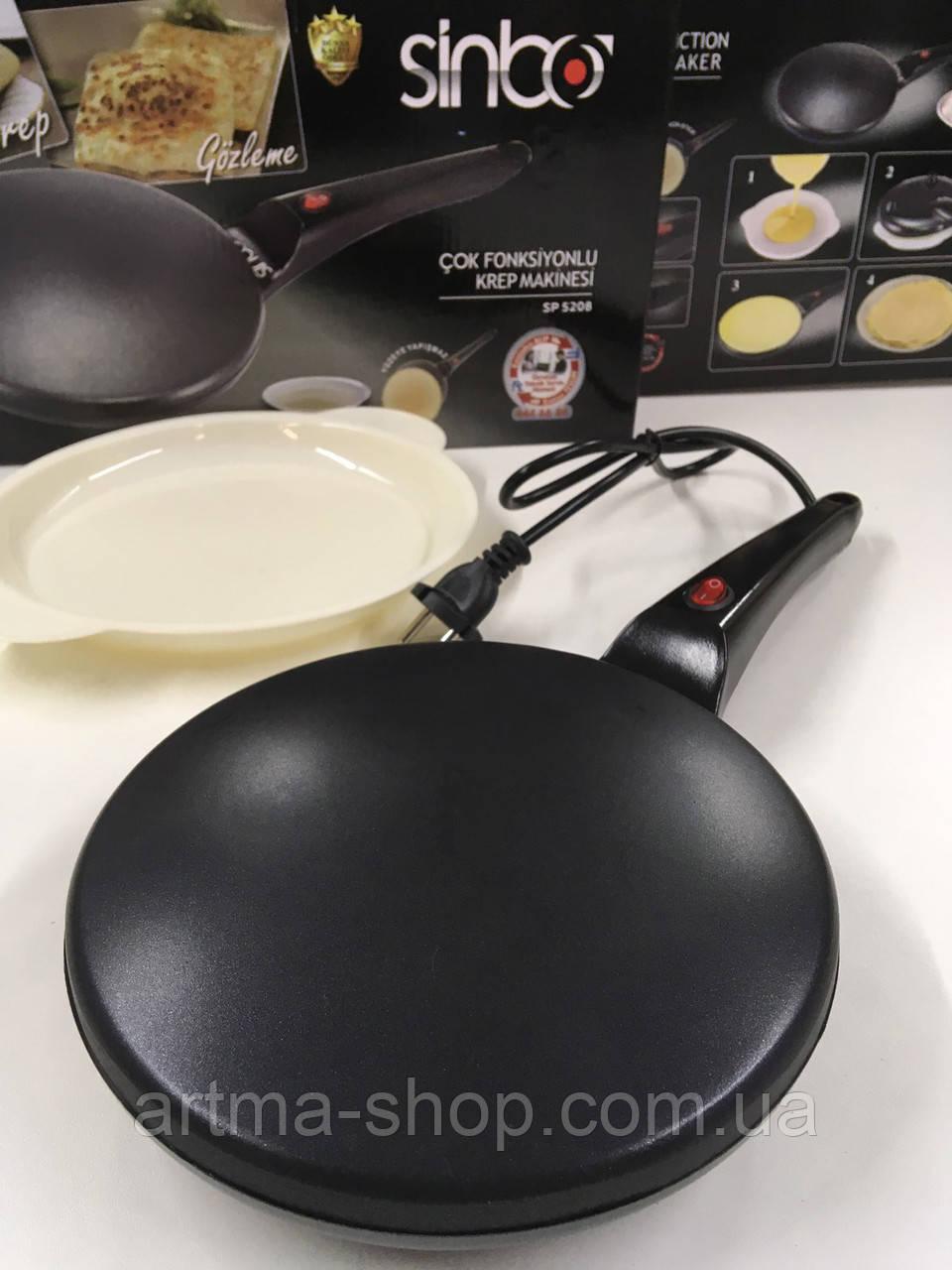Блинница Sinbo SP 5208 Crepe Maker Pro Black