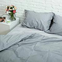 Двуспальный комплект Серого постельного белья, бязь Голд Люкс, 180х220 см