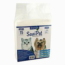 Пеленки для животных SaniPet Природа 60х45 см 15 шт.