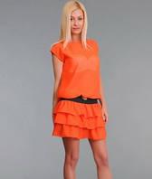 Женское шифоновое платье Рюши