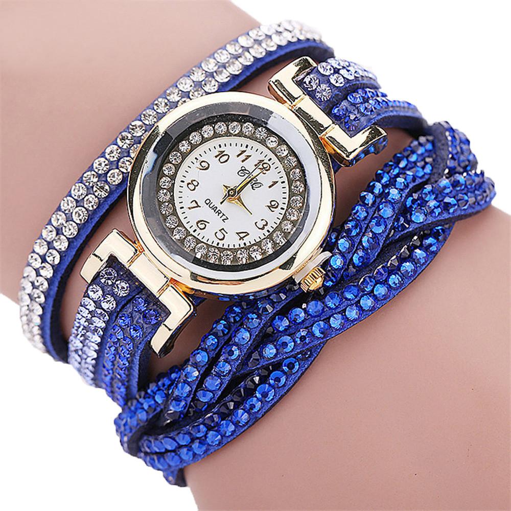 Наручные женские часы со стразами код 287