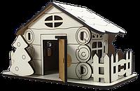 Дом № 15 с открывающейся дверью, из МДФ 15 х 8 х 9 см AS-6251, М-2088