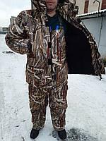 Теплый  Костюм для рыбалки и охоты  камуфляж камыш новый  усиленный,непродувемый,непромокаемый
