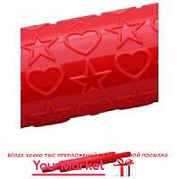 Скалка текстурная Empire Сердечки/Звездочки 25 см, 8971