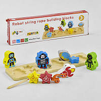 Деревянная игра Рамка-вкладыш С 35887 (50) со шнуровкой, в коробке