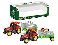 Трактор инерц. 2 вида микс, в кор 30,5*9,5*11см /72-2/