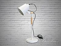 Стильная настольная лампа с деревянным каркасом&1026/T WH