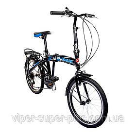 Велосипед SPARK VSP FUZE FTV со Складной Рамой и Багажником Чёрно-Синий, рама - Сталь, 20 дюйм