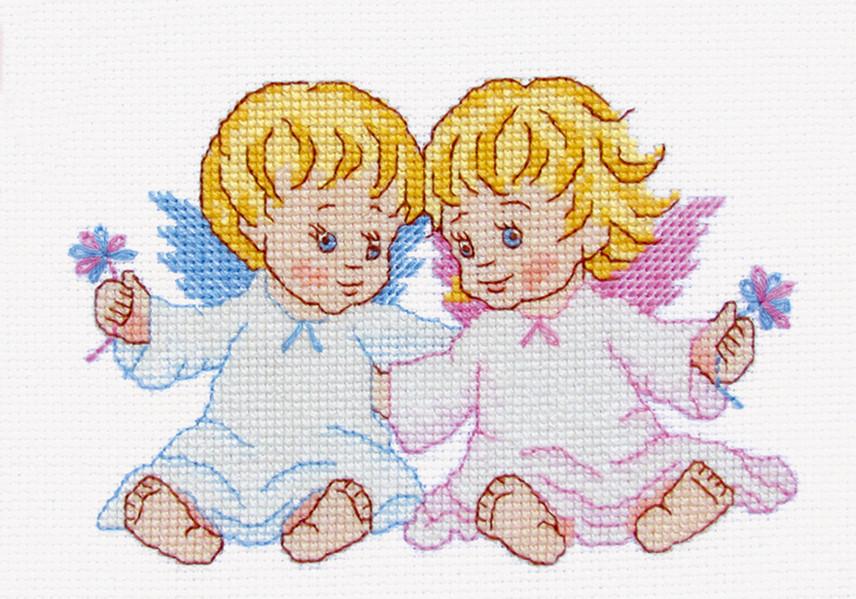 Наборы вышивки крестом ангелочки