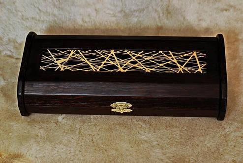 Обзорный подарочный футляр для ножа , из древесины вяза, фото 2