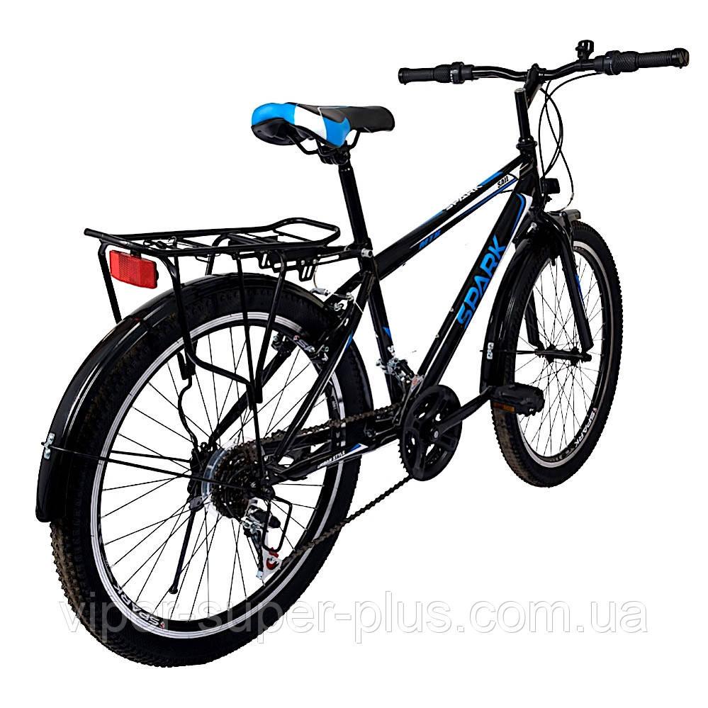 Велосипед с Багажником SPARK VSP SAIL TV24-13-18-002 Чёрно Синий! 24 дюймов колесо, 18 передач, Рама - Сталь