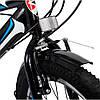 Велосипед с Багажником SPARK VSP SAIL TV24-13-18-002 Чёрно Синий! 24 дюймов колесо, 18 передач, Рама - Сталь, фото 9