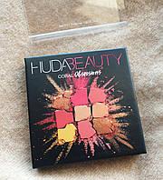 Палетка теней для век Huda Beauty - Obsessions Eyeshadow Palette Coral