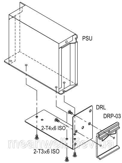 DRL-02 Аксесуари Mean Well ― металевий кутник