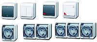 Выключатели, переключатели, кнопки серии «HERMES». 10-16А, IP44. Продукция от представителя польског