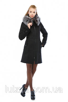 Женская дубленка приталенного силуэта c чернобуркой 48  52р, фото 2