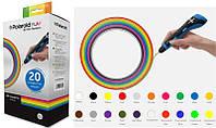 Набір нитки 1.75мм PLA для ручки 3D Polaroid PLAY (20 кольорів)