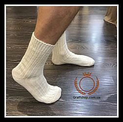 Носки белые из натуральной овечьей шерсти «Nebat»