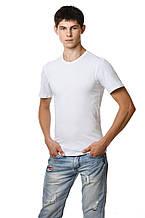 Белая мужская футболка хлопковая натуральная