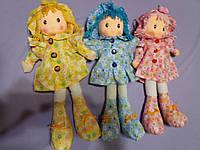Мягкая игрушка Кукла в платье со шляпкой 38 см , 3 вида.