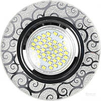Светильник точечный Accento lighting MR16 с LED-подсветкой 3 Вт G5.3 4000 К серебристый ALHu-MKD-E003 T31333020