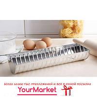 Форма полукруглая для выпечки рулетов, хлеба Silver 26х10х5 см 16222/4
