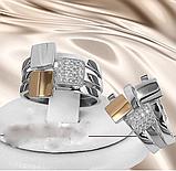 Потрійне кільце з золотом і цирконом срібло Дороті, фото 2