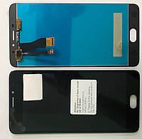 Дисплей Meizu M5 Note модуль в сборе с тачскрином, черный, с рамкой